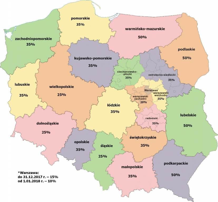 mapa pomocy regionalnej